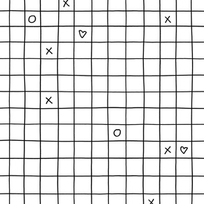 XO XO Grid – black white