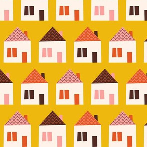 Around Town Yellow Houses