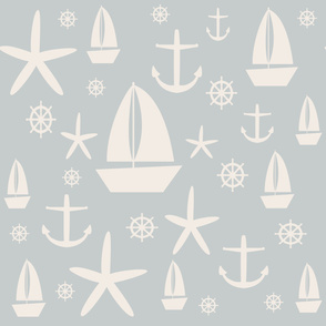 Nautical in blue and ivory...