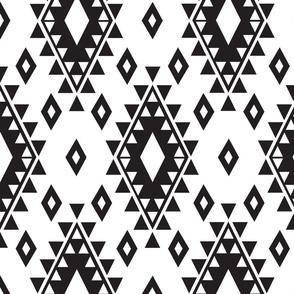 Tribal Aztec-White & Black