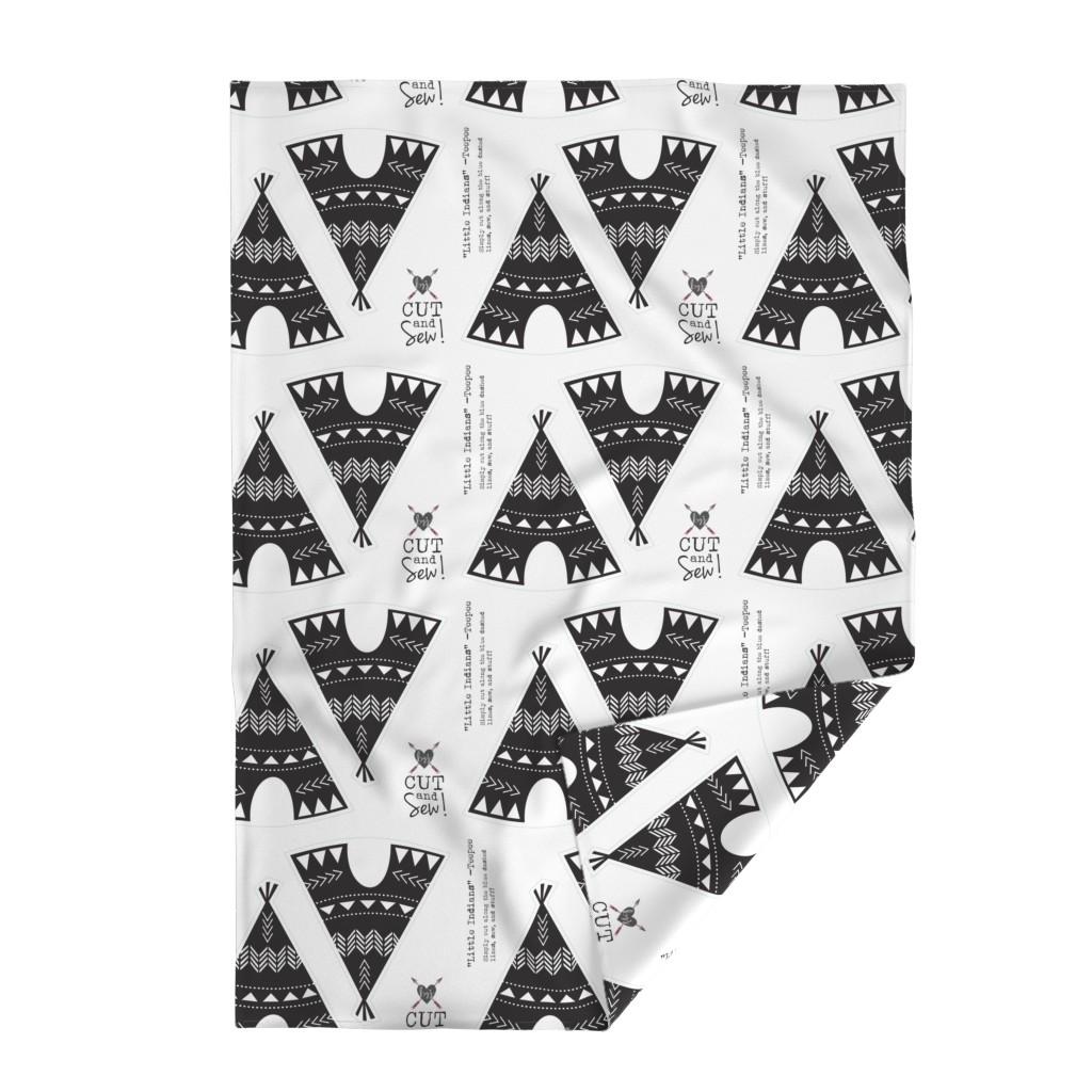Lakenvelder Throw Blanket featuring Cut & Sew Teepee-Black & White by bohemiangypsyjane