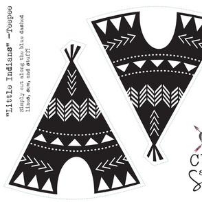 Cut & Sew Teepee-Black & White