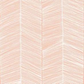 Herringbone Peach - 3 in wide