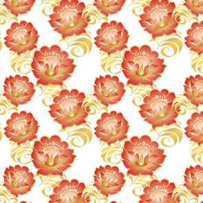 Chinese-Red-Gold-flowers-BKGRD-Tile