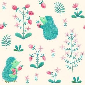 Hedgehog picking fruit