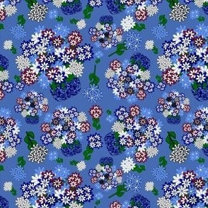Topiary Flowers Fabric 1