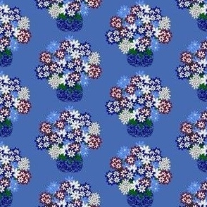 Topiary Flowers Fabric 2