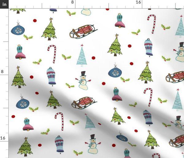 4 Servietten ~ Parade der Schneemänner mit Geschenken Winter Weihnachten