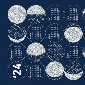 2020 Calendar, Sunday / Moon Phases