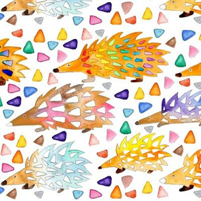 Watercolour Hedgehogs