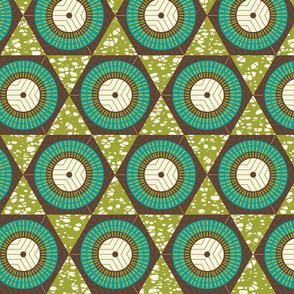 African Waxprint Green Teal