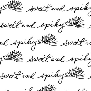 sweet and spiky lettering