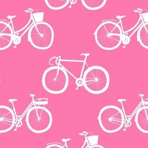 White Bikes on Pink