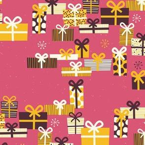 Christmas Joy Pink Presents