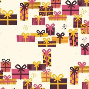 Christmas Joy White Presents