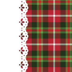 Christmas Tartan border print