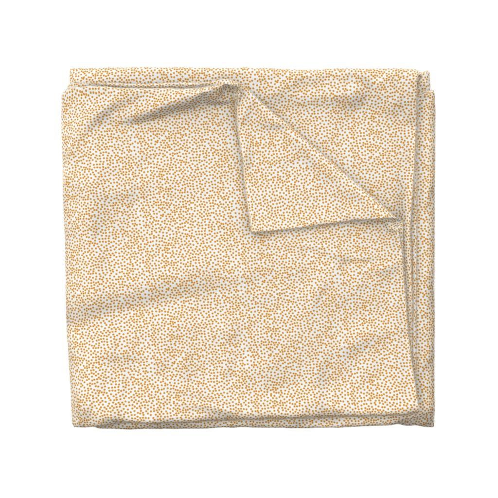 Wyandotte Duvet Cover featuring Random Polkadot - White and Burnt Orange by papercanoefabricshop