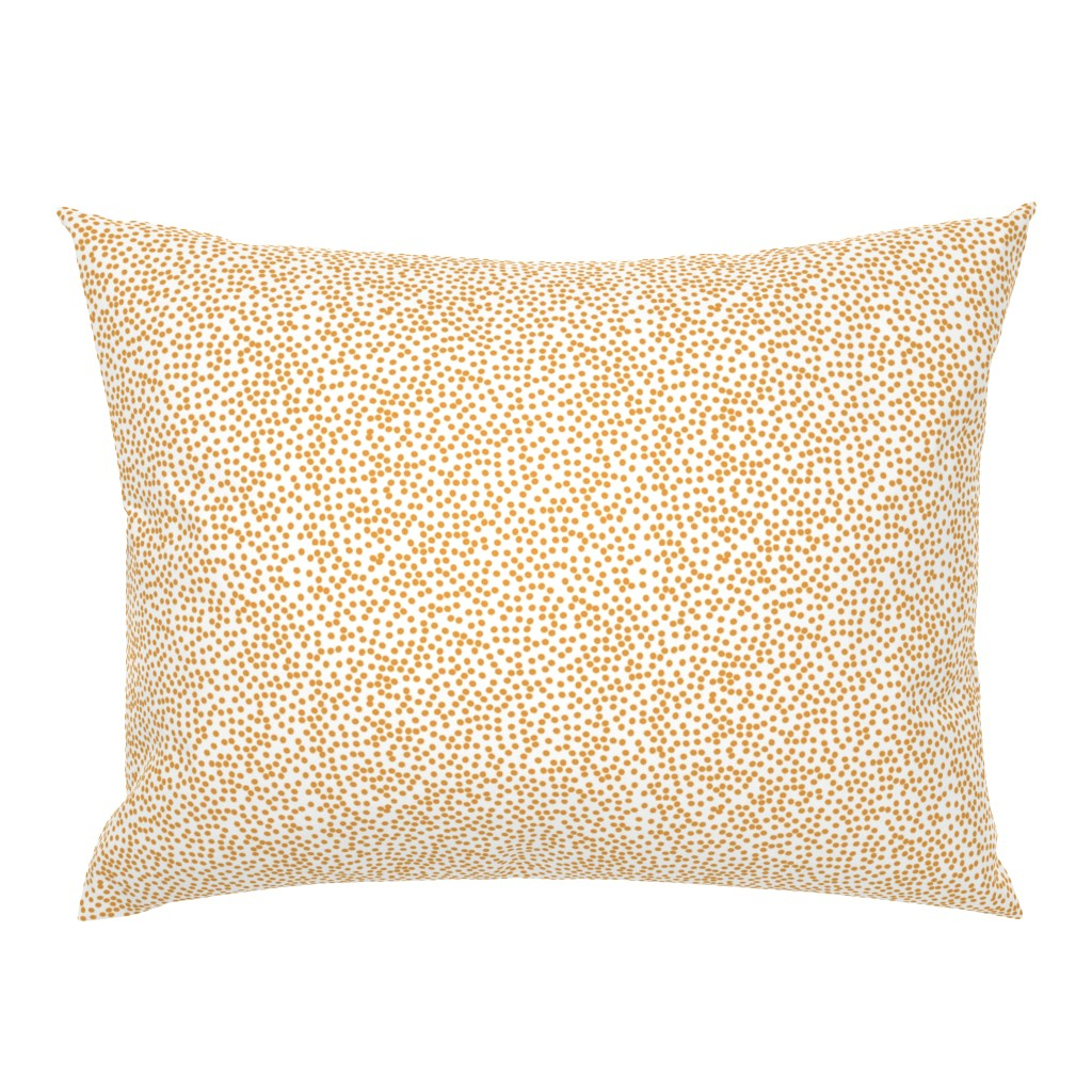 Campine Pillow Sham featuring Random Polkadot - White and Burnt Orange by papercanoefabricshop