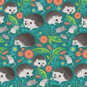 Hedgehog and Mice Gathering_12inch
