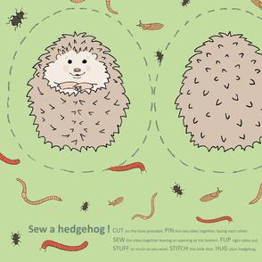 sew a hedgehog!
