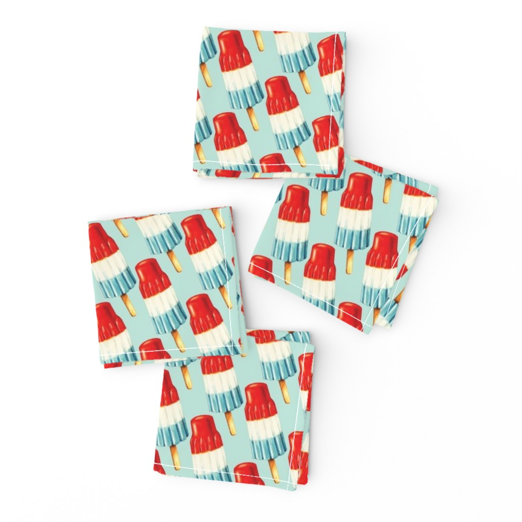 Frizzle Cocktail Napkins featuring USA Popsicle Pattern by kellygilleran