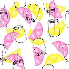 Lemonade with straws