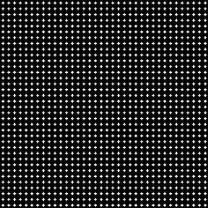 cross + white on black .25in narrow