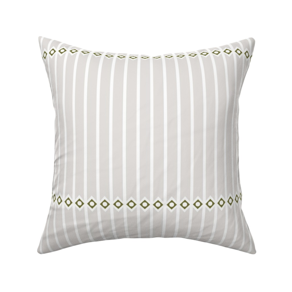 Catalan Throw Pillow featuring Colosseum Taupe by arboreal