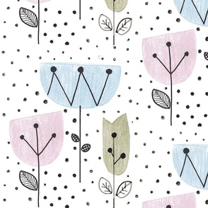 Whimsy floral dots