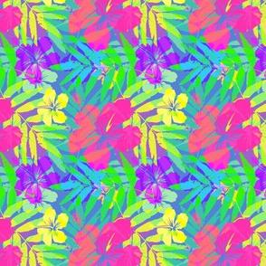 Vivid colors tropic flowers