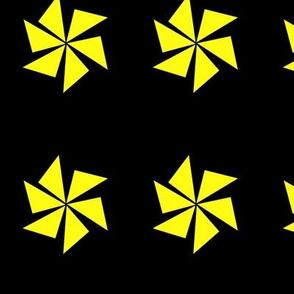 yellow pinwheels