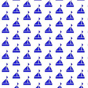 blue sailboats light