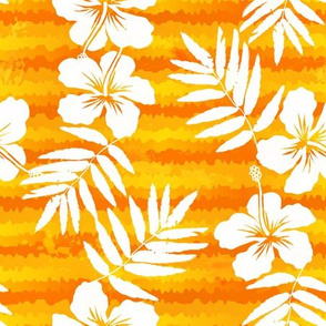 Orange frangipani flowers