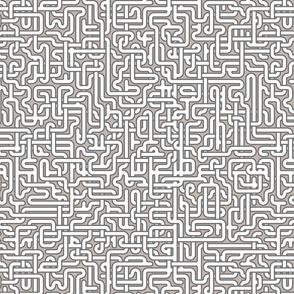 maze in grey
