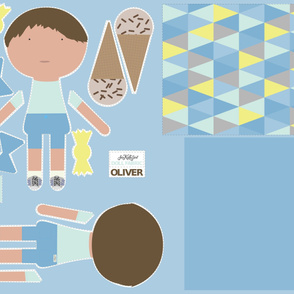 Boy Doll Fabric - Oliver + Quilt