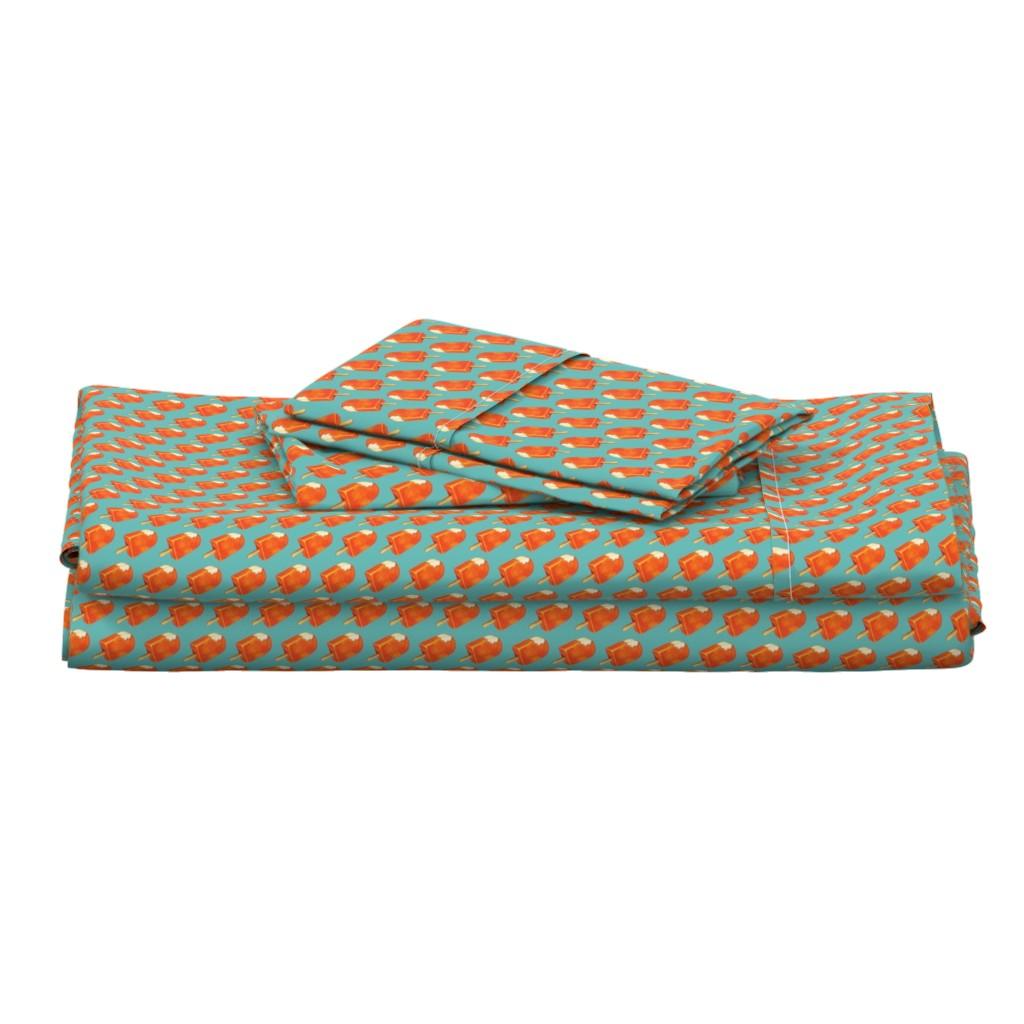Langshan Full Bed Set featuring Creamsicle by kellygilleran
