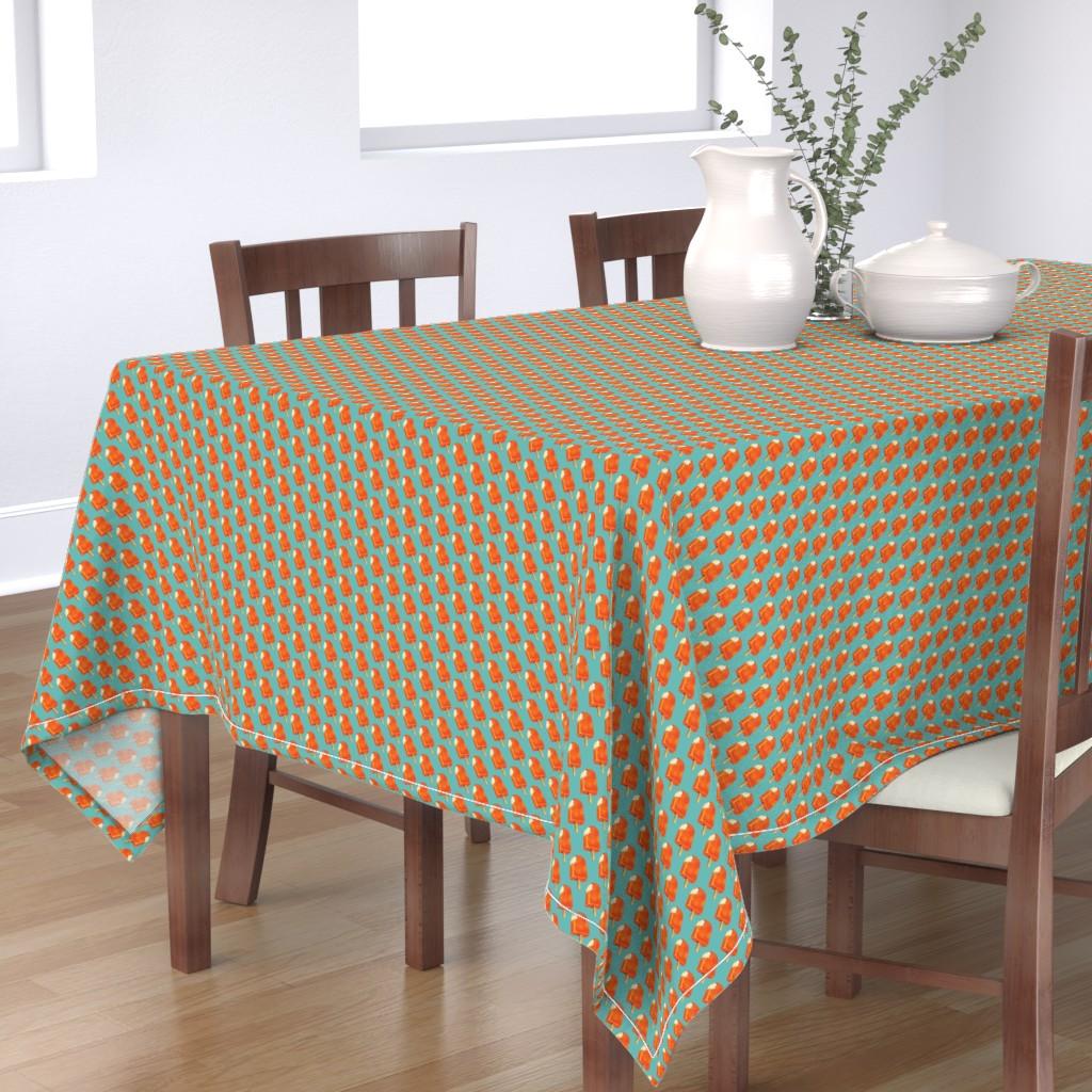 Bantam Rectangular Tablecloth featuring Creamsicle by kellygilleran