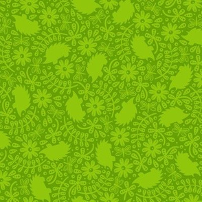 Hedgehogs in the Leaves (Green)