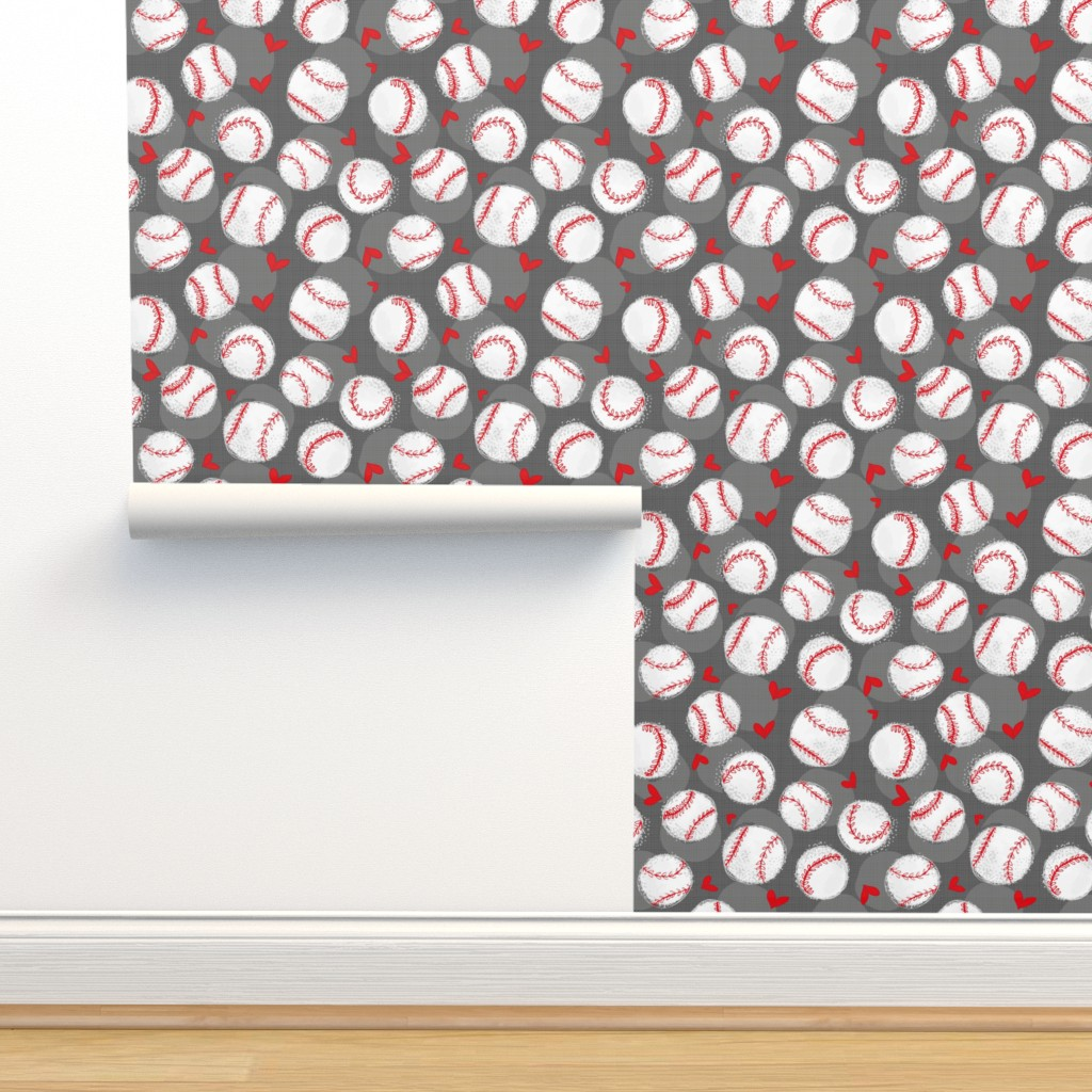 Isobar Durable Wallpaper featuring Baseball Lovers Unite! - Small scale by pinky_wittingslow