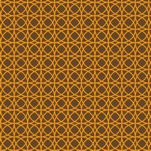 circles orange on brown