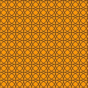 circles brown on orange