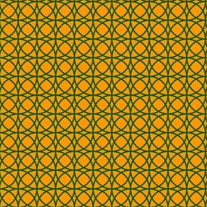 circles green on orange