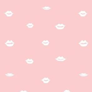 mini lips white on pink