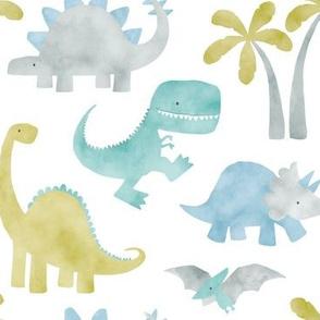 Watercolor Dino