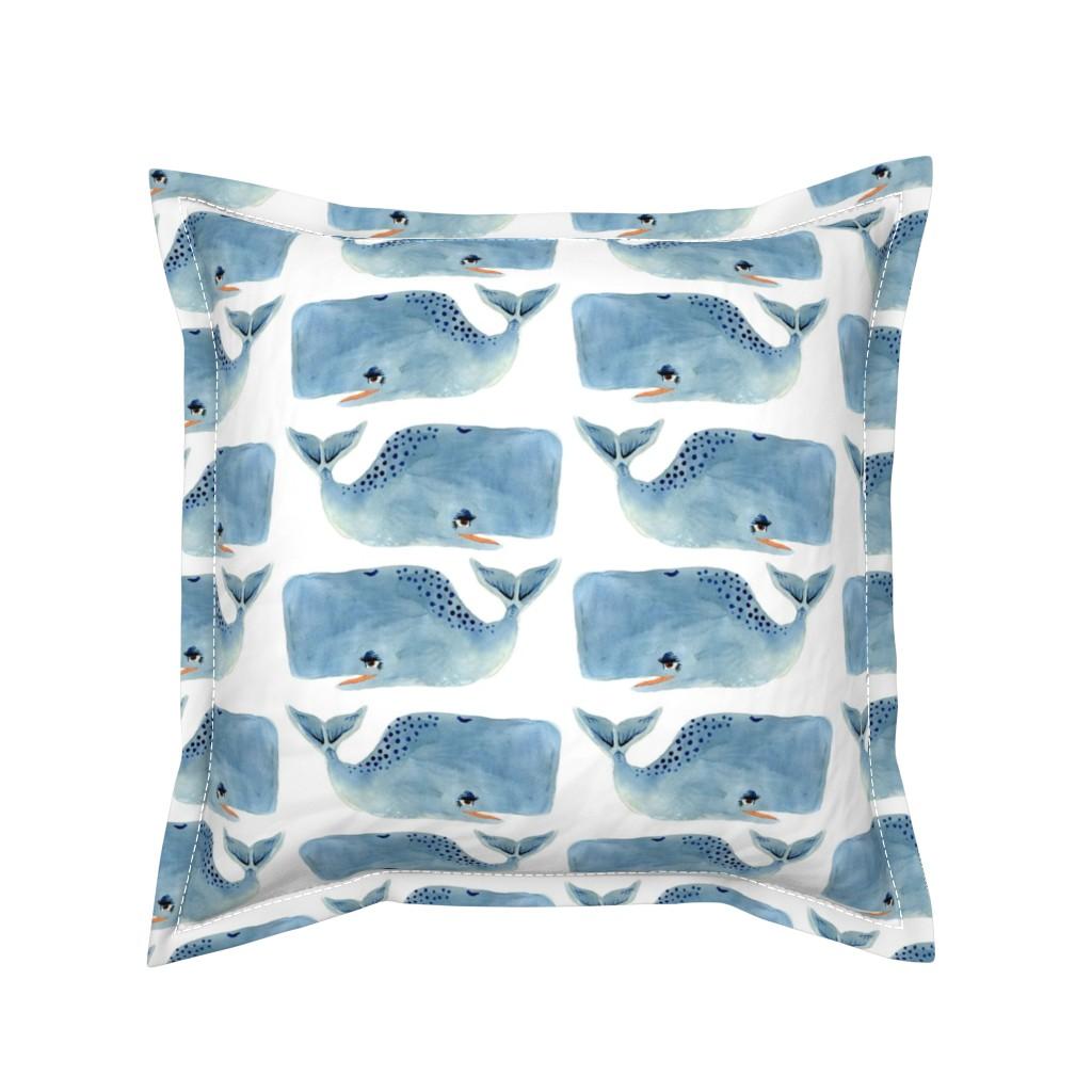 Serama Throw Pillow featuring Whale Party! Medium Size by taraput