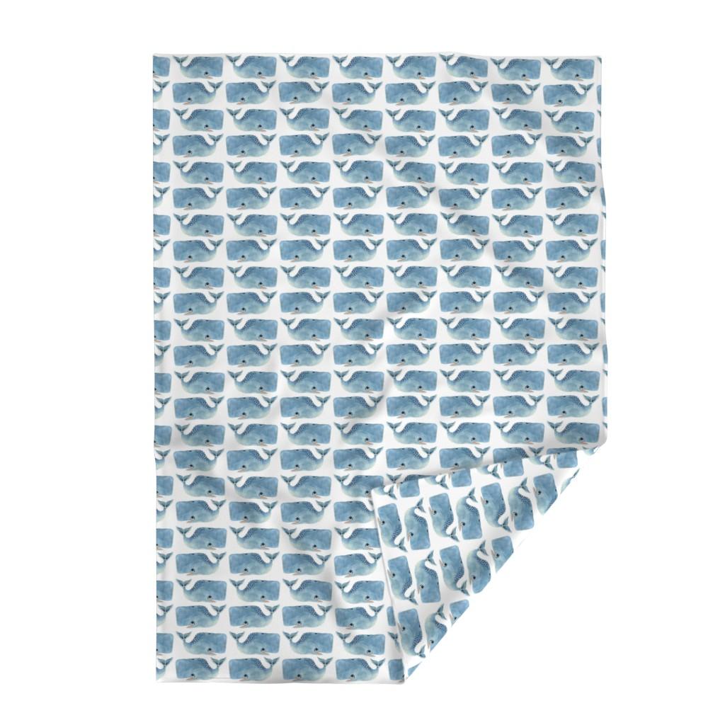 Lakenvelder Throw Blanket featuring Whale Party! Medium Size by taraput