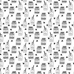 milk // micro print black and white kids baby nursery triangle kids