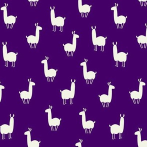 Llamas small purple