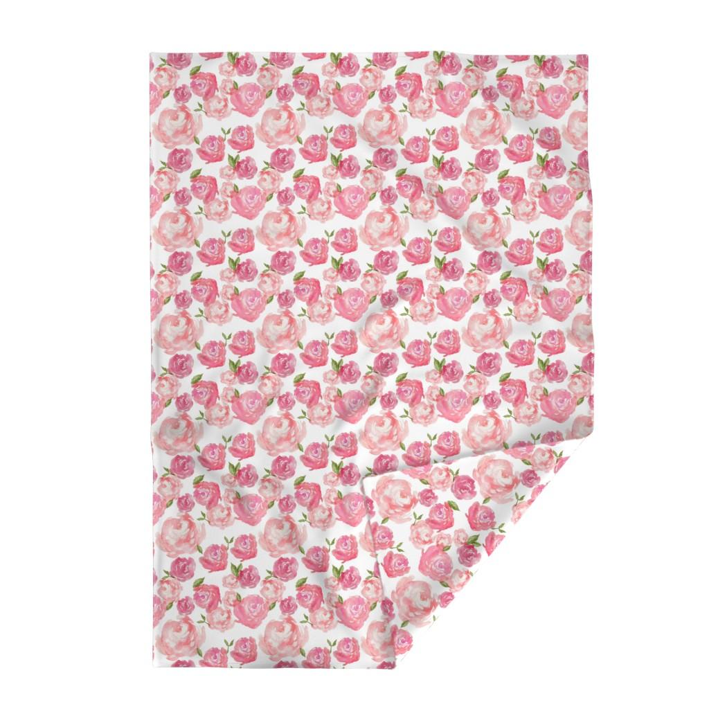 Lakenvelder Throw Blanket featuring Watercolor Floral by laurapol