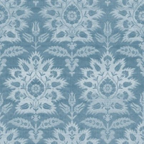 Carnations and Tulips Damask Ikat ~ Jeanne